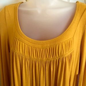 Free People Tops - Yellow Gold Top FREE PEOPLE Gathered  Long Sleeve